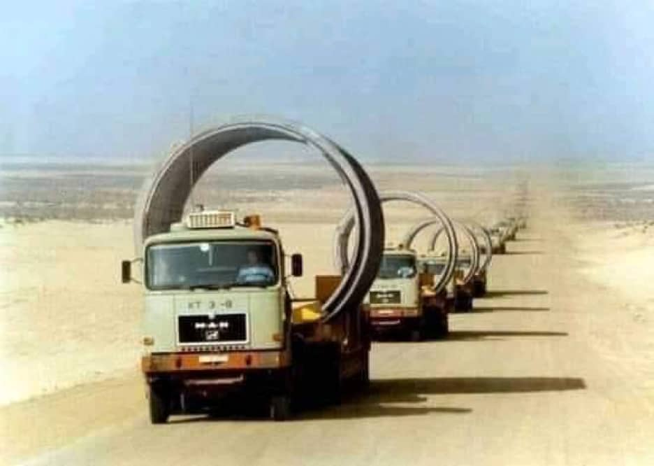 Construction of the Great Man Made River Project in Libya